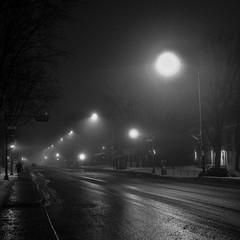 Le marcheur du tôt matin dans la brume......