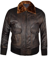 Biggest SALE 2020 - WWII Navy G-1 Flight Bomber Genuine Distress Brown Leather Jacket!
