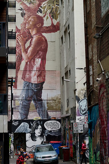Murals, Duckboard Place, Melbourne | by Joe Lewit