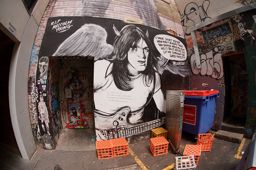 Malcolm Young R.I.P., Duckboard Place, Melbourne | by Joe Lewit