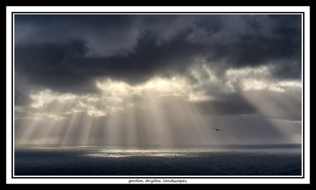 Sunbeams seen from Dyrholaey