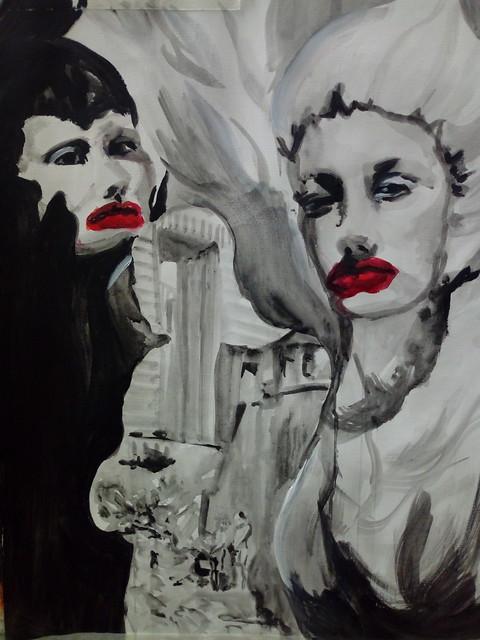 Portrait altéré, Les danseuses emplumées