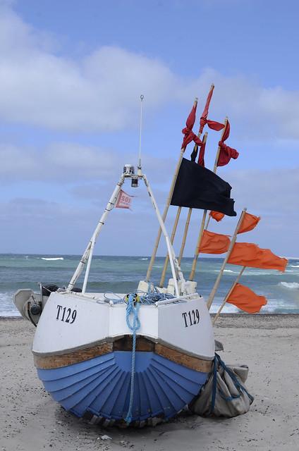 Ship on Jammerbucht beach