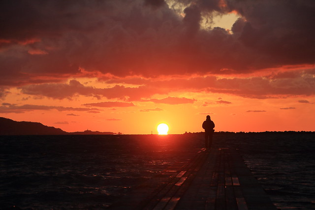 Sunset Over the Noko Pier