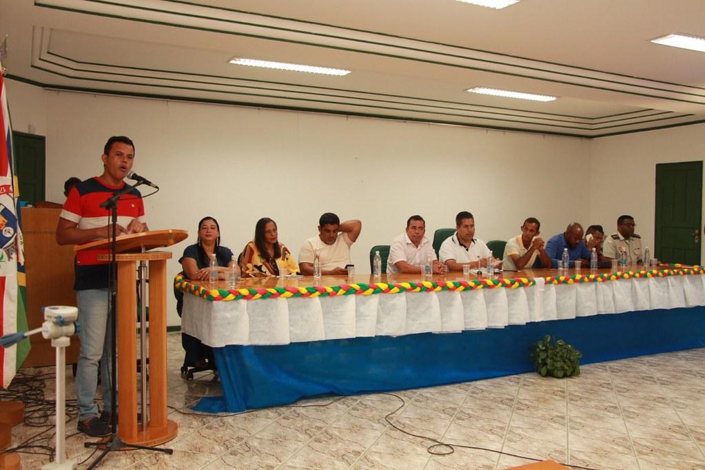 Érico Miranda (Presidente da Câmara de Vereadores), falando sobre a importância das ações do pacote de obras do município de Alcobaça