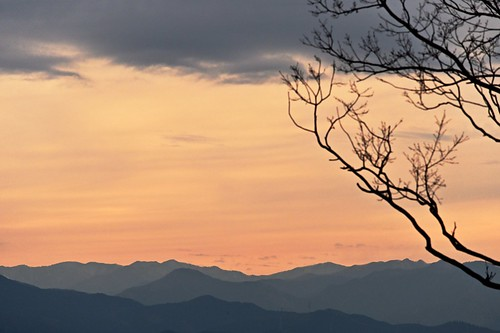 sunset goldenhour mountains silhouette solitude nature