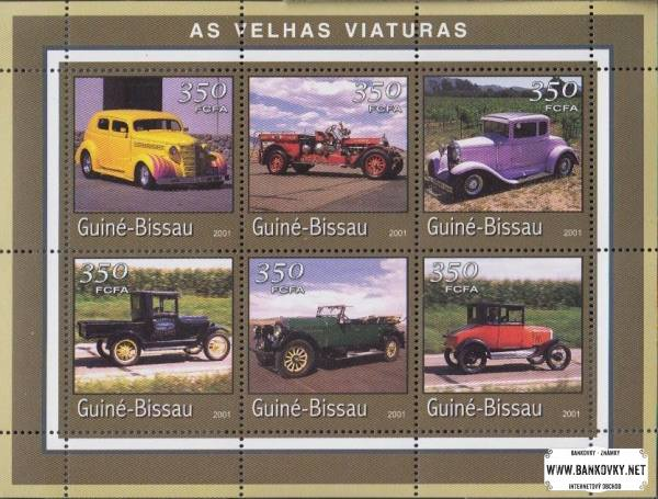 Známky Guinea Bissau 2001 Staré autá
