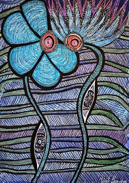 נגד עין הרע ציירת אמנית מודרנית ישראלית יוצרת עכשווית מירית בן נון