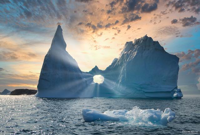 Melting heart iceberg...