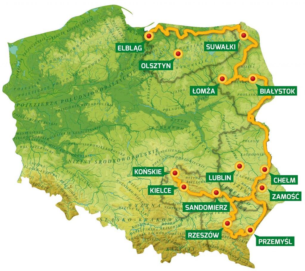 route polen