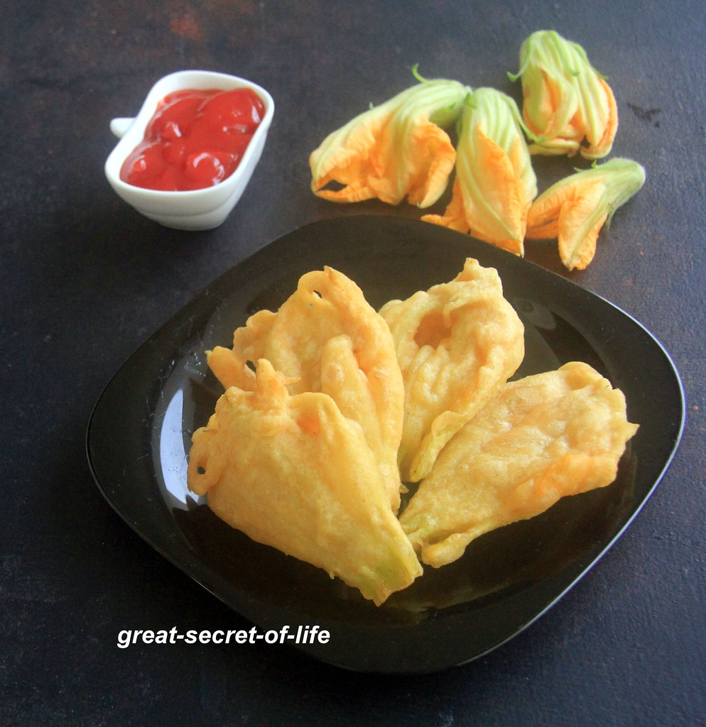 Pumpkin Flower Fritters recipe - Pumpkin flower recipes - Flower recipes