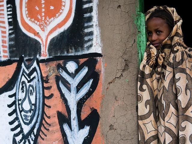 Ethiopia. Traditional house Alaba