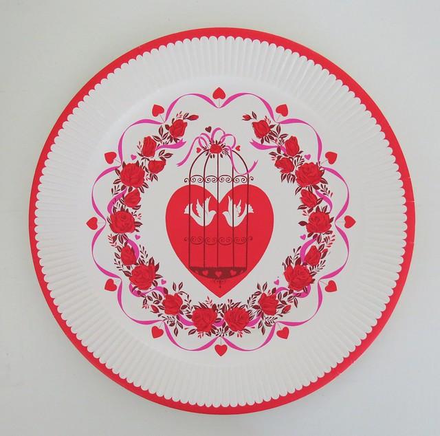 Vintage Hallmark Valentine's Day Paper Party Plate