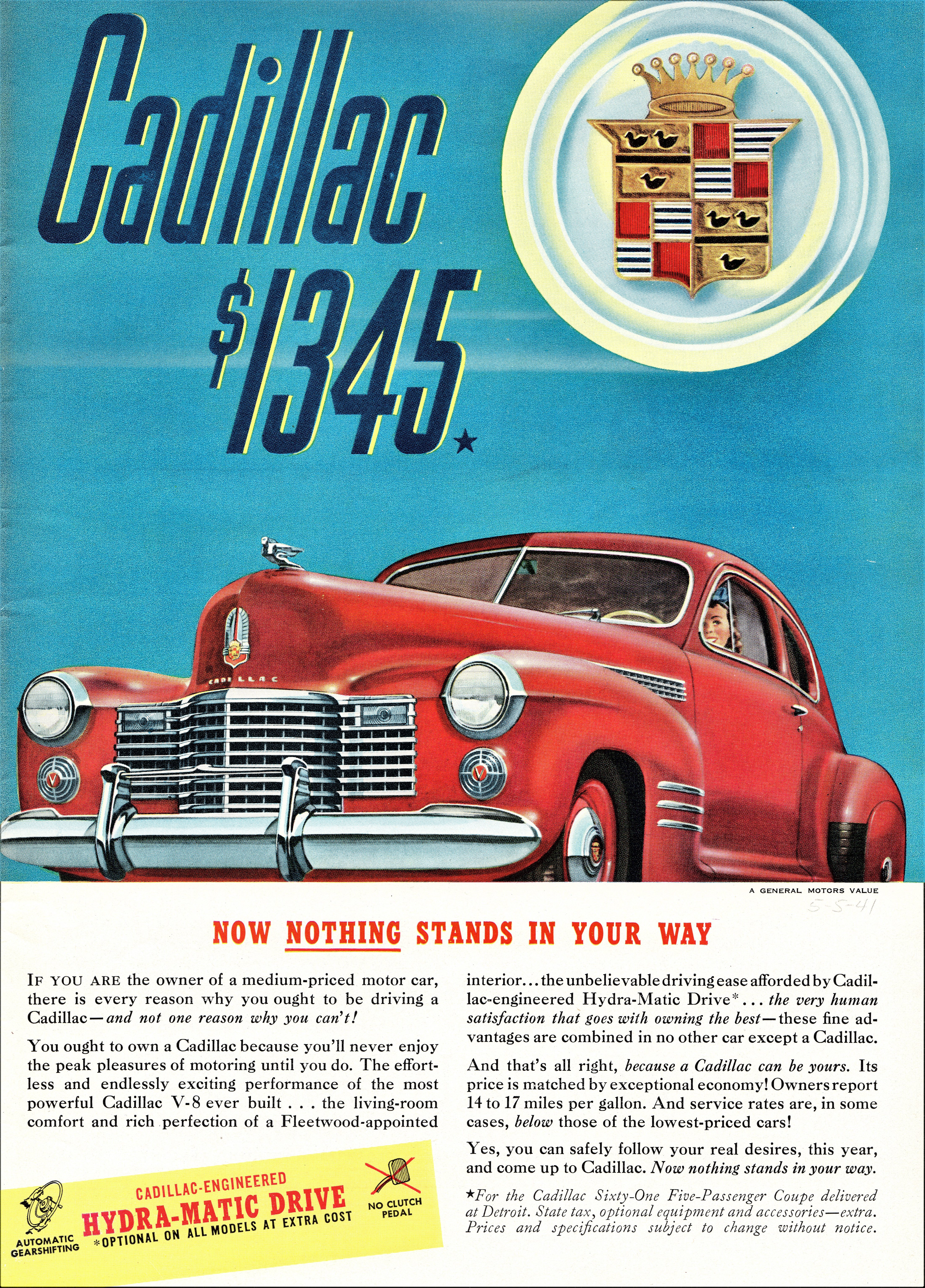 1941 Cadillac Sixty-One 5-Passenger Coupe