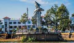 2019 - Vietnam-Avalon-Châu Đốc - 7 - Basa Fish Sculpture