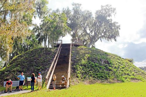 landscape trees stairs florida platform historical mound crystalriver
