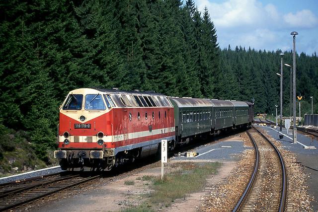 DR 119 179 Ernstthal (Rennsteig) (D) 29 augustus 1991