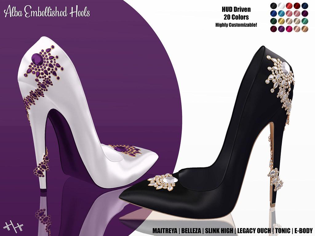 Hilly Haalan – Alba Embellished Heels