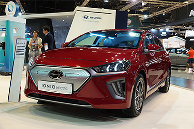 Launch of new IONIQ Electric with upgraded 38.3-kWh battery, capable of achieving a range of 311 km in total.
