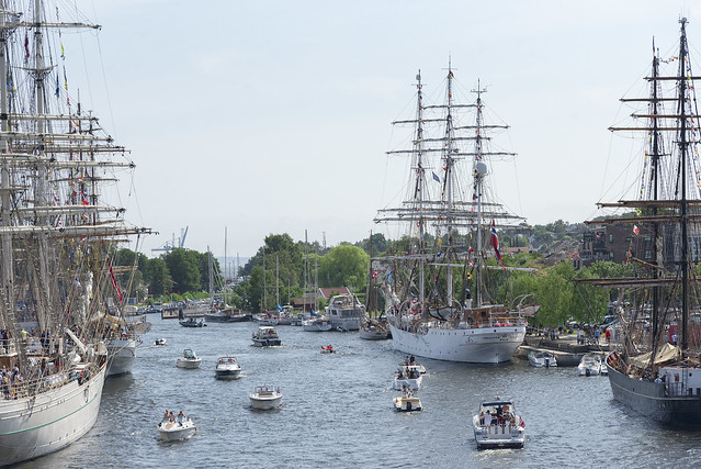 Tall ship festival in Fredrikstad, Norway