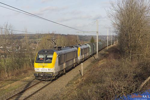 3019+3010 . CFL Cargo . E 44813 . Barvaux . 11.01.20.