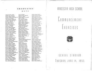 1955 Anacostia Commencement Program 1 and 4 | by -kidagain-