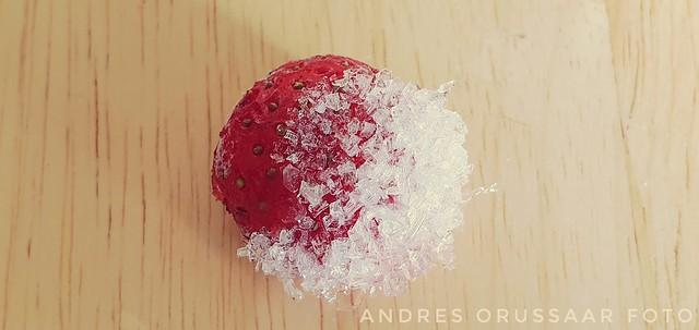 Icy strawberry