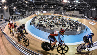 Up close with the fisheye for track cycling in Milton, ON