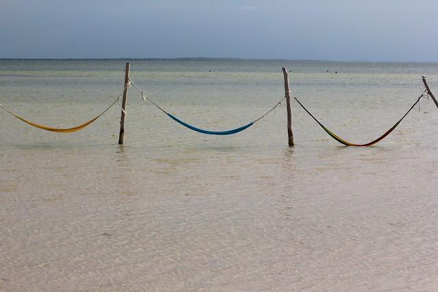Hammocks in Punta Cocos, Isla Holbox