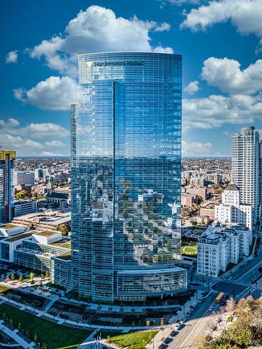 october city cityscape panorama milwaukee 2017 urban aerialphotography dji mavic northwesternmutual wisconsin usa architecture drone unitedstates djimavicpro mavicpro aerial