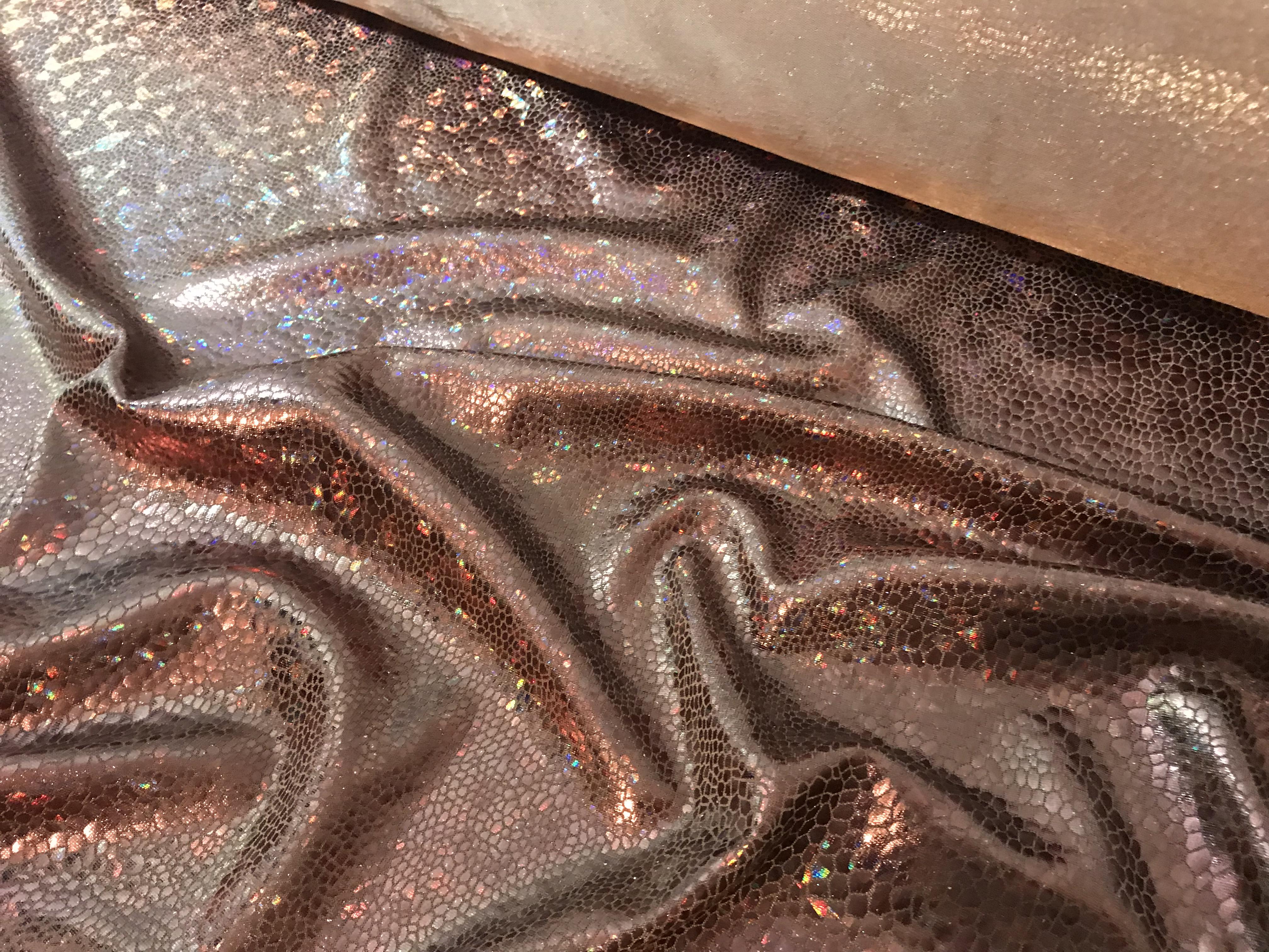 Metallic-Stretch #Reptil, braun