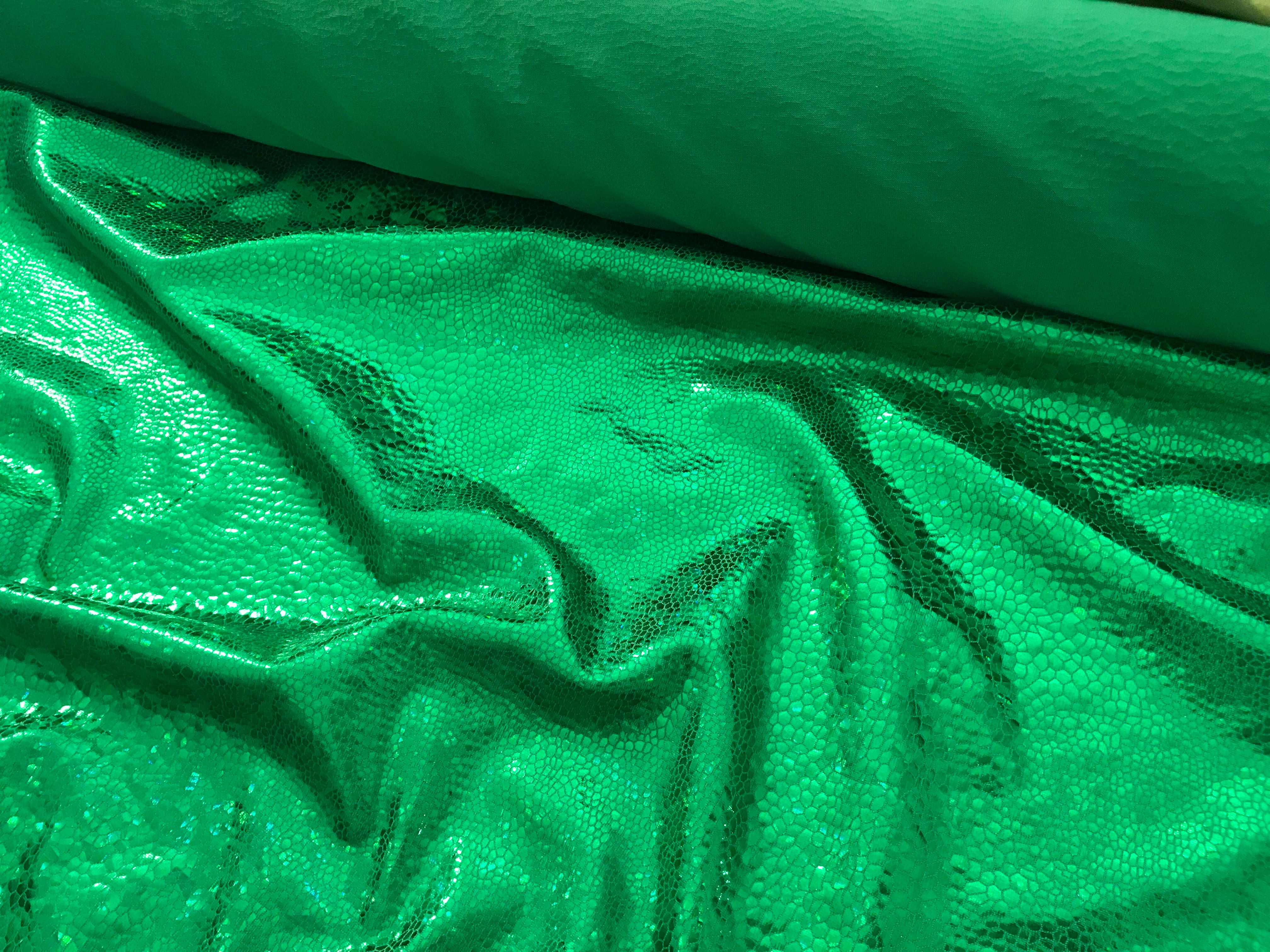 Metallic-Stretch #Reptil, grün