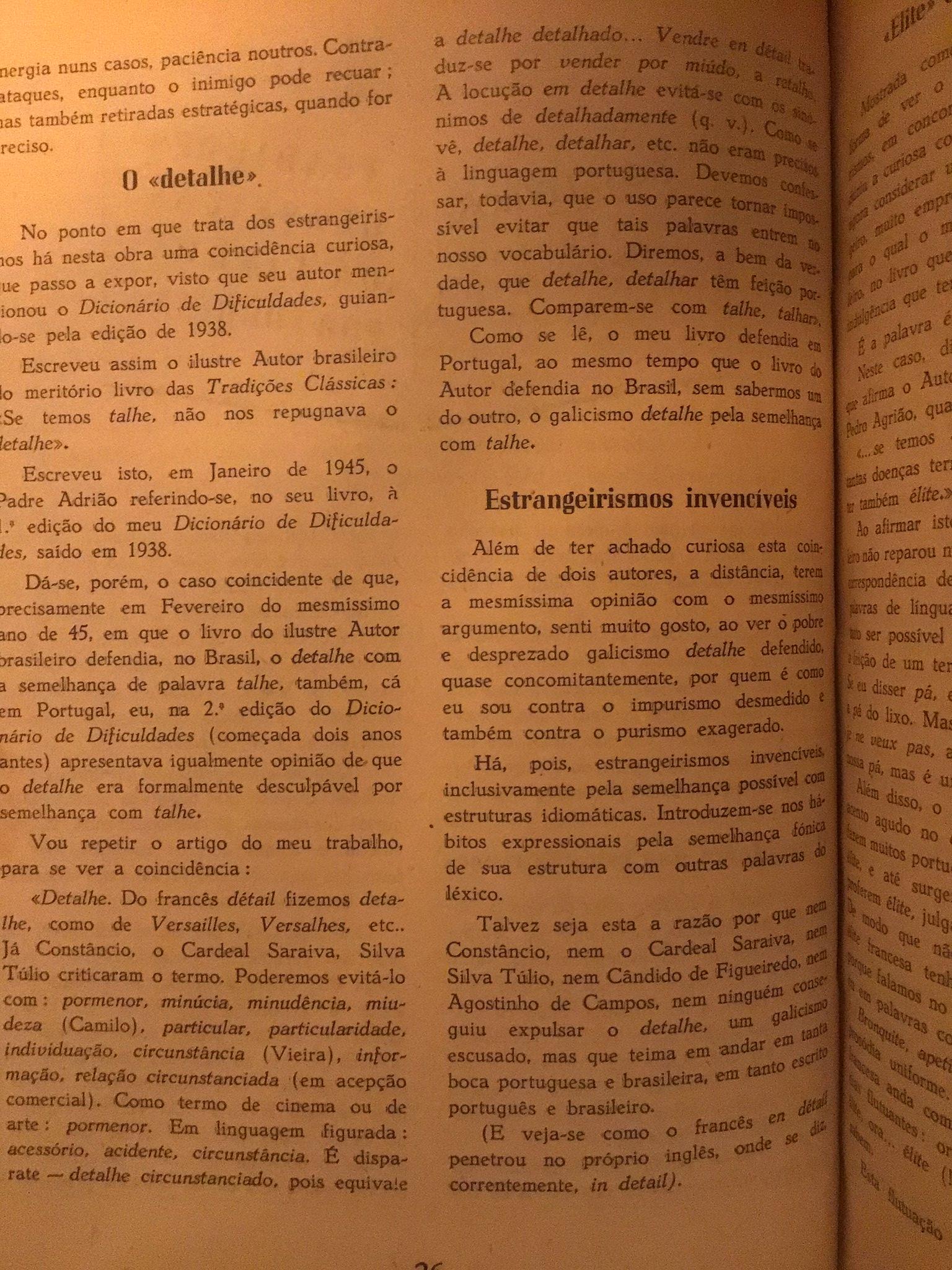 """O """"detalhe""""», in «A Bem da Língua Portuguesa», n.º 3, Janeiro de 1950"""