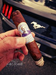 These past few months haven't gone my way but my cousin's son has it tougher... but for me, my bud, a #juliuscaeser, and my sixth #Mustang helps me cope. #cigar #jcnewmancigars