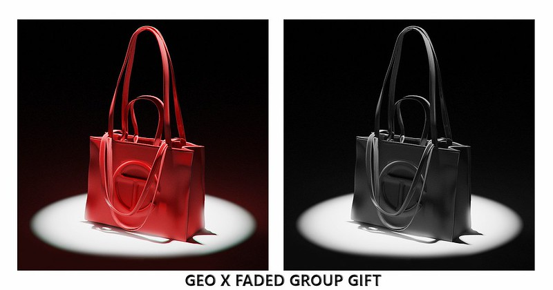 GROUP GIFT | GEO X FADED - Telfar Shopping Bag