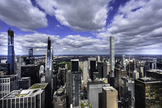 Partial view of Central Park from the Top of the Rock - New York City - USA