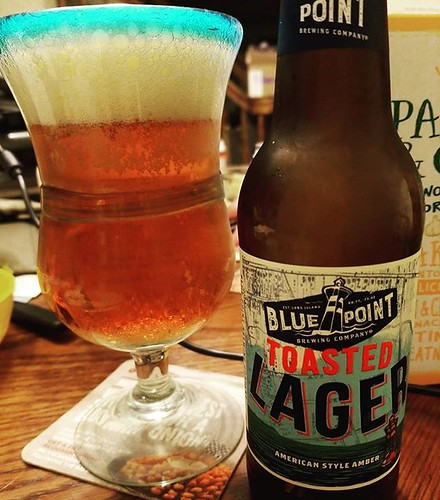 This stuff is OK. It's pleasant and nice. I'd put it on the same level as Yuengling Lager, but since it's three bucks more, I don't know if I'll get it again. #beer #yum #bluepointbrewery