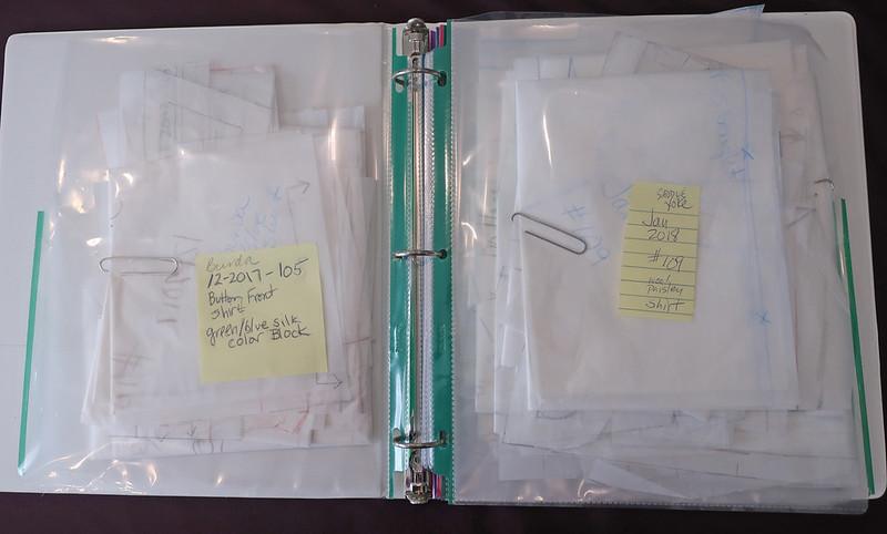 Burda pattern storage binder