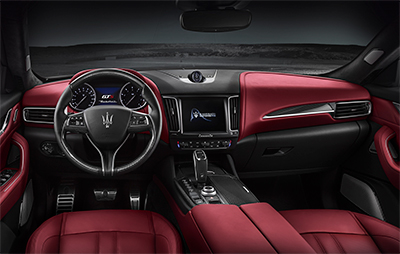 Dashboard of the new Levante GTS. Image courtesy of Tridente Automobili.