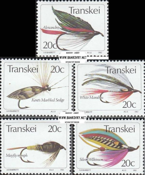 Známky Transkei 1983 Rybárske mušky