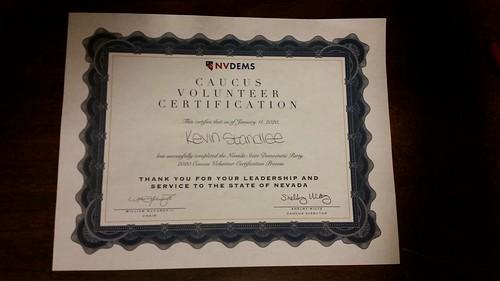 Caucus Training Certificate