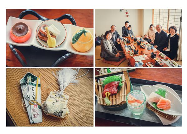 お宮参り・七五三詣りの後の親族お食事会(昼食) 和食 日本料理