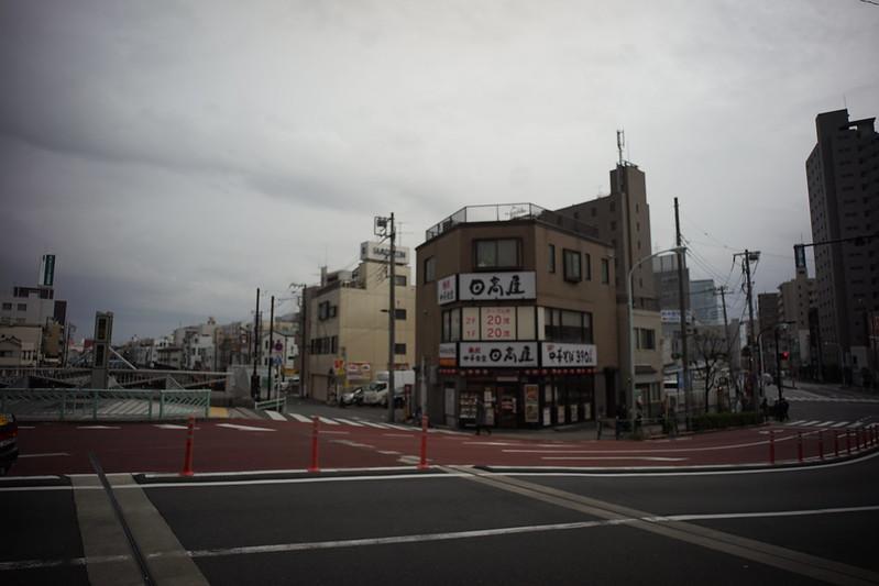 46 20200112チョートクブラぱち塾押上北十間川 京成橋の上には1960年代には西洋風の喫茶店の場所 今は日高屋