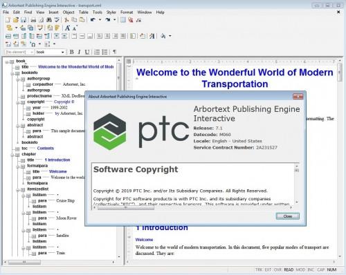 Working with PTC Arbortext Publishing Engine 7.1 M060 full license