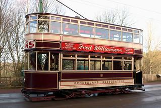 Trams: Sunderland Corporation: 16 Beamish Open Air Museum