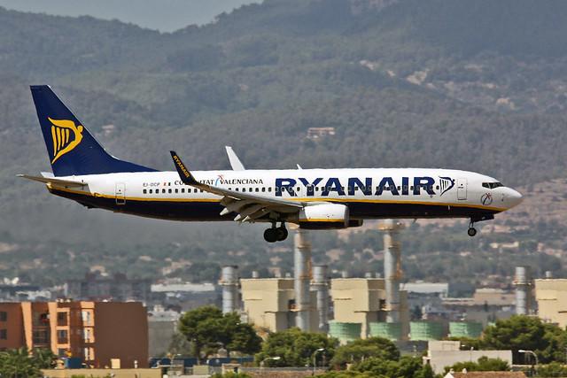 EI-DCP Boeing 737-8AS Ryanair PMI 14-09-19