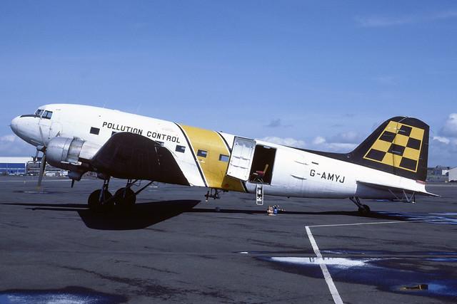 G-AMYJ Douglas C47B Dakota EGPK 1985