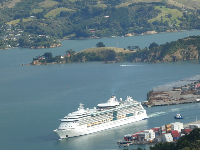 Radiance of the Seas leaving Port Chalmers