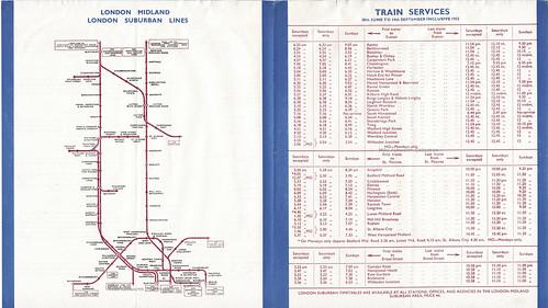 British Railway, London Midland Region : Railway Guide to the London Suburban Area, 1952