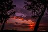 Bloody Bath under Cloudy Sunset - La Réunion 2005 by Eric R Porcher